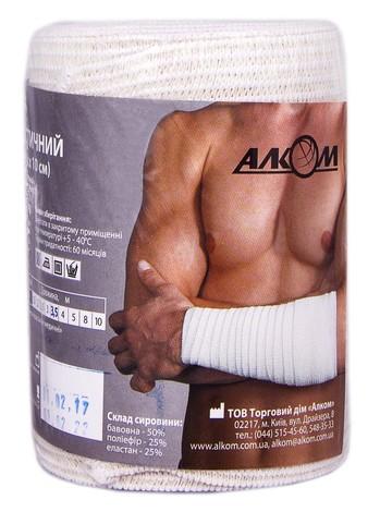 Алком Бинт медичний еластичний 3,5 м х 10 см 1 шт