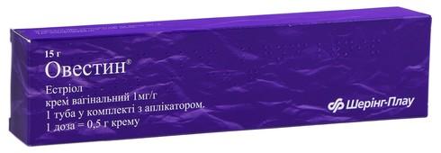 Овестин крем вагінальний 1 мг/г  15 г 1 туба