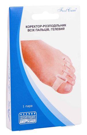 Foot Care GB-07 Коректор-розподільник всіх пальців, гелевий розмір L (39-46) 1 пара