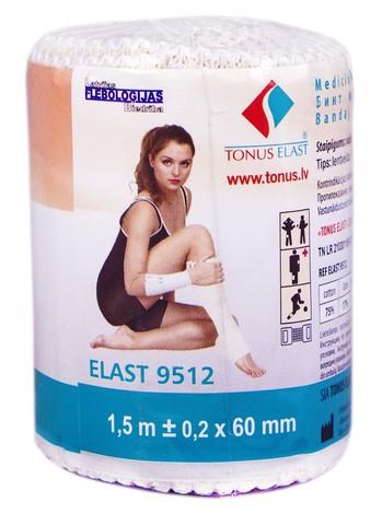Tonus Elast 9512 Бинт еластичний 1,5 м х 6 см 1 шт