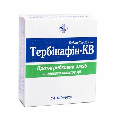 Тербінафін-КВ таблетки 250 мг 14 шт