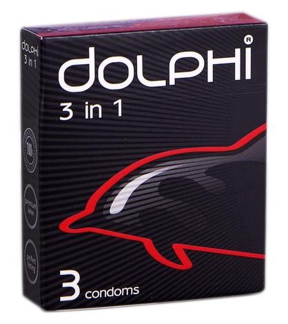 Dolphi Презервативи 3 in 1 3 шт