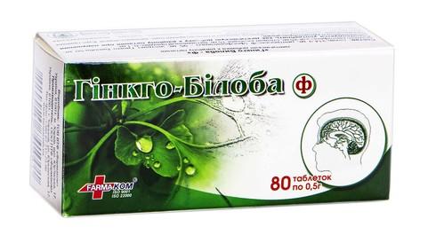 Гінкго Білоба-Ф таблетки 80 шт
