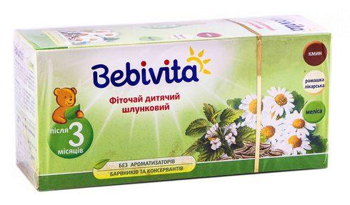 Bebivita Фіточай шлунковий після 3 місяців 1,5 г 20 фільтр-пакетів
