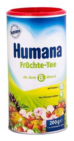Humana Чай фруктовий від 8 місяців 200 г 1 банка