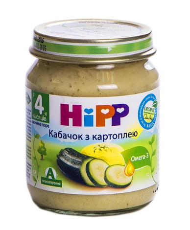 Hipp Пюре Кабачок з картоплею з 4 місяців 125 г 1 банка