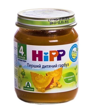 Hipp Пюре Перший дитячий гарбуз з 4 місяців 125 г 1 банка
