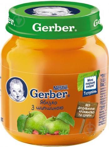Gerber Пюре Яблуко з шипшиною з 6 місяців 130 г 1 банка
