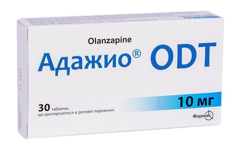 Адажио ODT таблетки дисперговані 10 мг 30 шт