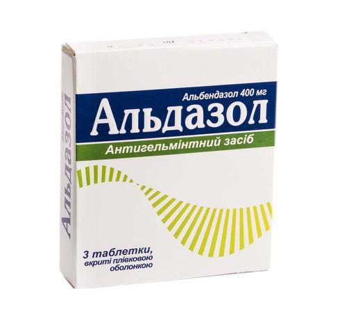 Альдазол таблетки 400 мг 3 шт