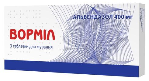 Ворміл таблетки 400 мг 3 шт