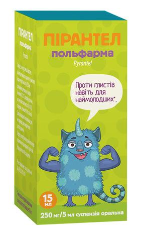 Пірантел Польфарма суспензія оральна 250 мг/5 мл  15 мл 1 флакон