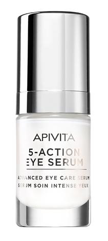 Apivita Сироватка 5-Action Eye Serum інтенсивний догляд для шкіри навколо дчей з білою лілією 15 мл 1 шт