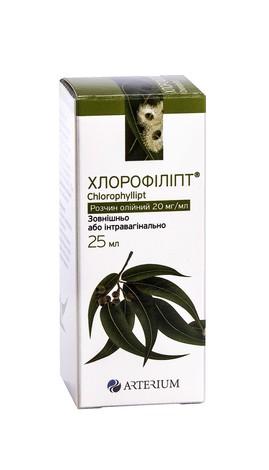 Хлорофіліпт розчин олійний 20 мг/мл 25 мл 1 флакон