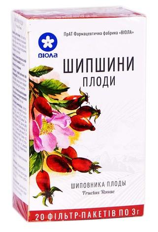 Шипшини плоди Віола 3 г 20 фільтр-пакетів