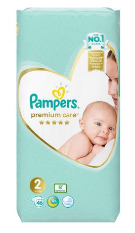 Pampers Premium Care 2 Mini Підгузки дитячі 4-8 кг 46 шт