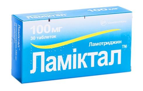 Ламіктал таблетки 100 мг 30 шт