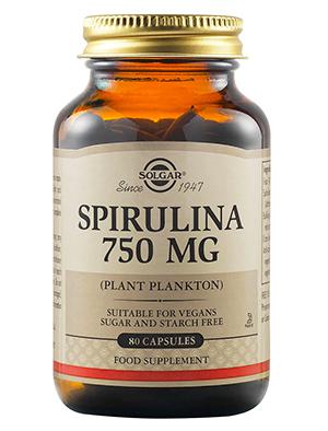 Solgar Спіруліна таблетки 750 мг 80 шт