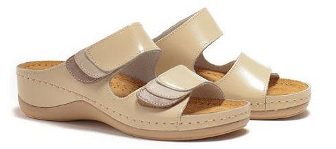 Leon 904 Медичне взуття жіноче бежевого кольору 38 розмір 1 пара