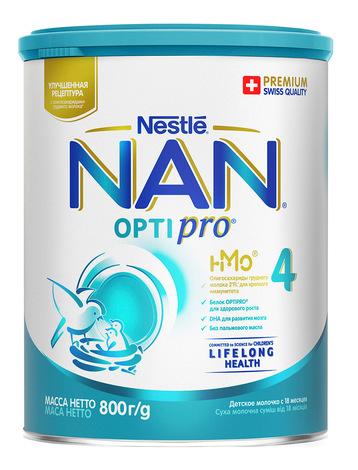 NAN 4 Optipro Суха молочна суміш для дітей від 18 місяців 800 г 1 банка