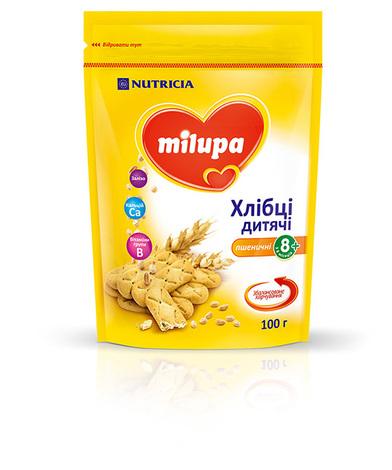 Milupa Хлібці дитячі пшеничні з 8 місяців 100 г 1 пакет