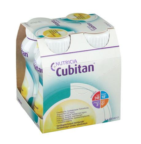 Nutricia Кубітан Протеїн зі смаком ванілі 200 мл 4 пляшки