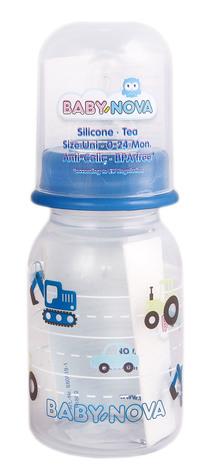 Baby-Nova Пляшка пластмасова, декорована однокольорова 125 мл 1 шт