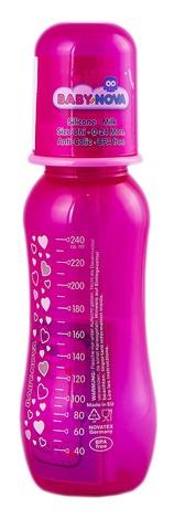 Baby-Nova Пляшечка пластикова декорована одноколірна 240 мл 1 шт