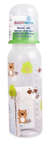 Baby-Nova Пляшечка пластикова декорована 250 мл 1 шт