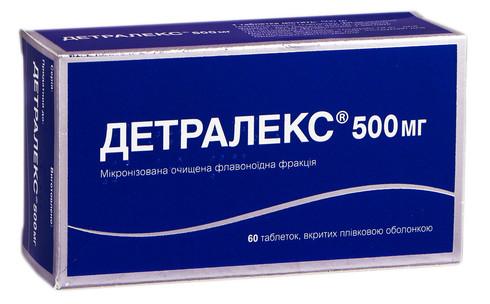Детралекс таблетки 500 мг 60 шт