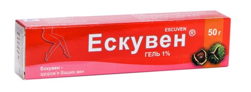 Ескувен гель 1 % 50 г 1 туба