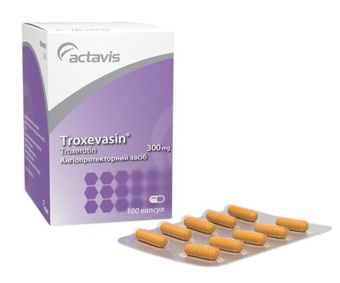 Троксевазин капсули 300 мг 100 шт