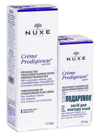 Nuxe Prodigieuse насичений крем 40 мл + засіб для контуру очей 15 мл 1 набір