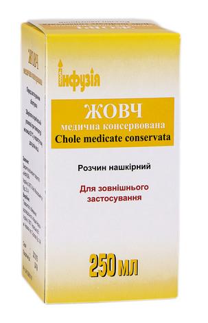 Жовч медична консервована розчин нашкірний 250 мл 1 флакон