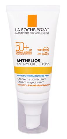 La Roche-Posay Anthelios Гель-крем корегуючий для жирної, проблемної шкіри, схильної до акне SPF-50+ 50 мл 1 туба