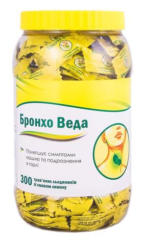 Бронхо Веда зі смаком лимону льодяники 300 шт