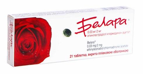 Белара таблетки 2 мг/0,03 мг  21 шт