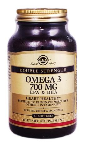Solgar Подвійна Омега-3 700 мг ЕПК та ДГК капсули 60 шт