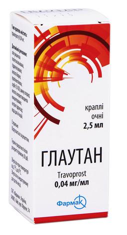 Глаутан краплі очні 0,04 мг/мл 2,5 мл 1 флакон
