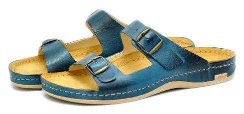Leon 703 Медичне взуття чоловіче синього кольору 41 розмір 1 пара