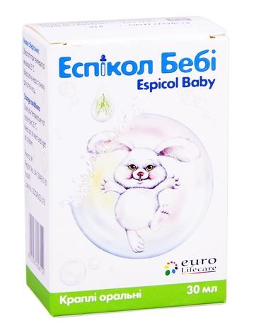 Еспікол Бебі краплі оральні 40 мг/мл 30 мл 1 флакон