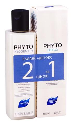 Phyto Progenium шампунь 250 мл + Detox шампунь 125 мл 1 набір