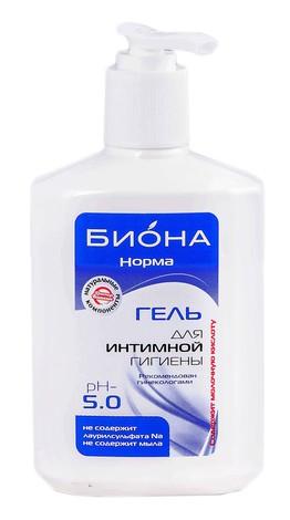 Біокон Бiона-норма Гель для інтимної гігієни рН 5,0 275 г 1 флакон