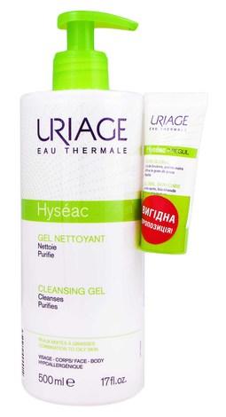 Uriage Hyseac очищуючий гель 500 мл + 3-Regul універсальний догляд 15 мл 1 набір