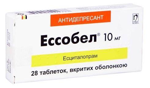 Ессобел таблетки 10 мг 28 шт