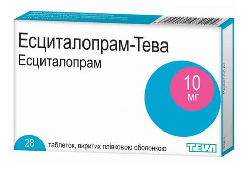 Есциталопрам Тева таблетки 10 мг 28 шт