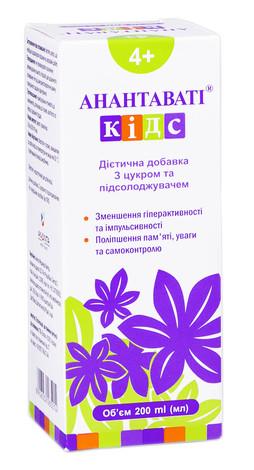 Анантаваті кідс сироп 200 мл 1 флакон