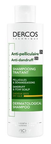 Vichy Dercos Anti dandruff DS Шампунь проти лупи для сухого волосся та подразненої шкіри голови 200 мл 1 флакон