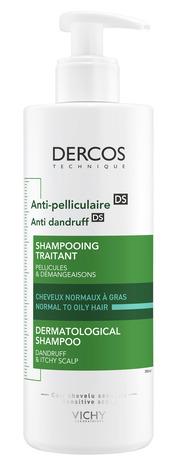 Vichy Dercos Шампунь посиленої дії проти лупи для нормального, жирного волосся та подразненої шкіри голови 390 мл 1 флакон