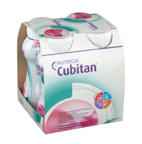 Nutricia Кубітан Протеїн зі смаком полуниці 200 мл 4 пляшки